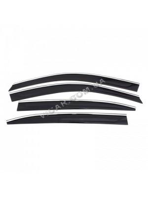 Дефлекторы окон - ветровики с хромом Hyundai IX35(2010+)