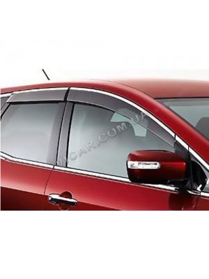 Дефлекторы окон хром Mazda CX-7 (2007...)