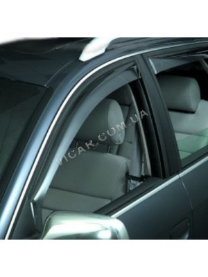 Дефлекторы окон (хром) Audi Q7 (2006...)