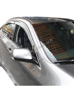 Дефлекторы окон (хром) Honda Accord Euro (2008...)