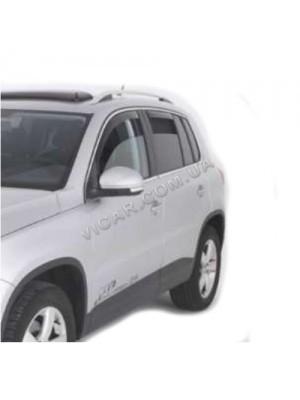 Дефлекторы окон (хром) Volkswagen Tiguan (2007...)