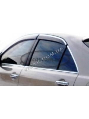 Дефлекторы окон с хромом Toyota Avensis 2009+