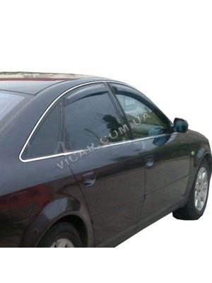 Дефлекторы окон (ветровики) Audi A6  (2004...)
