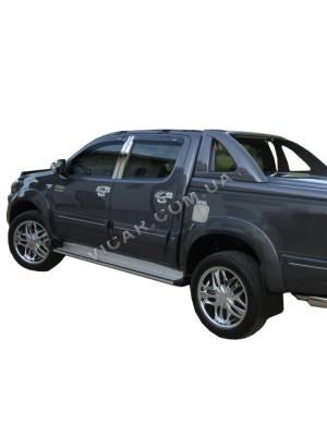 Дефлекторы окон (ветровики) Toyota Hilux