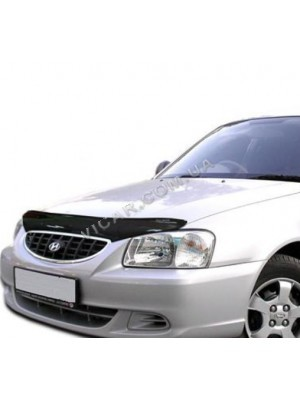 Дефлектор капота Hyundai Accent (2006-10)