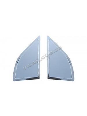 накладки на стекло-косынку (треугольник) nissan navara (2005...)