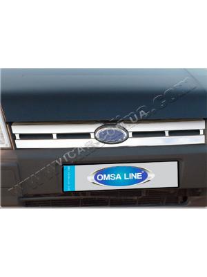 Накладка на решетку радиатора Ford Tourneo Connect (06-09)