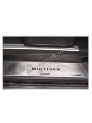 Накладки на дверные пороги Volkswagen Multivan T5