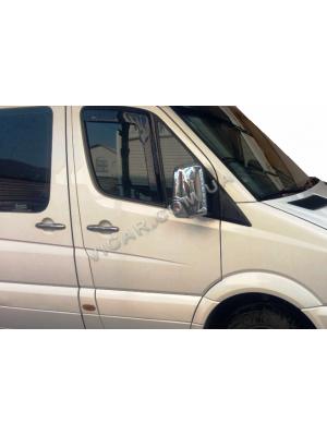 Накладки на зеркала Mercedes Sprinter (нерж)