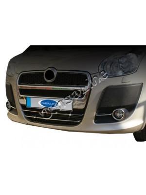 Хром накладки на передний бампер Fiat Doblo (2010…)