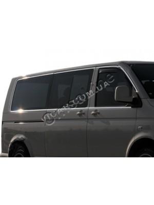 Хром молдинг окон (верхний и нижний) Volkswagen Transporter T5