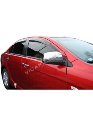 Накладки на зеркала Mitsubishi Lancer X (2007...)