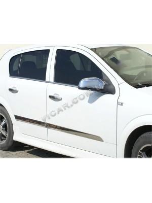 Нижние молдинги стекол Opel Astra H