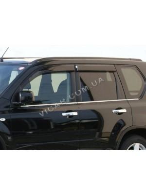 Нижние молдинги стекол Nissan X-Trail 2007+