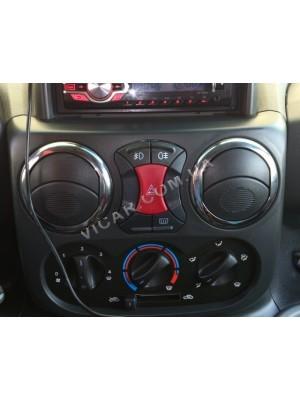 Накладки на вентиляционные створки Fiat Doblo (2001-06)
