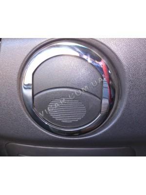 Накладки на вентиляционные створки Fiat Doblo (2006-09)