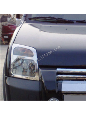 Накладки на передние фонари Ford Connect (2002+)