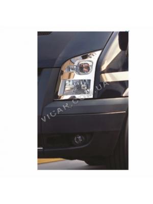 Накладки на передние фонари Ford Transit (2006+)