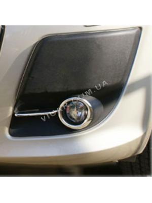 Окантовка на противотуманные фонари Fiat Doblo 2010+
