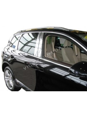 Накладки на стойки дверей Volkswagen Touareg (2002-10)