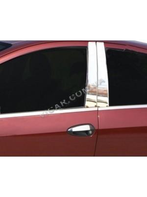 Накладки на стойки дверей Fiat Linea (2006 ...)