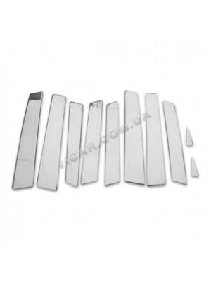 Накладки на стойки дверей Audi Q7 (2006...)