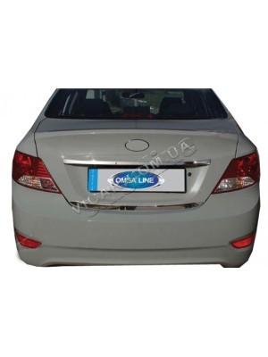 Планка на крышку багажника - над номером Accent (2011...