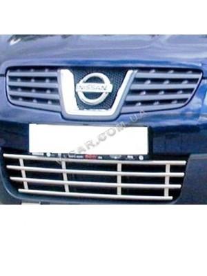 Решетка переднего бампера Nissan Qashqai (2007...)