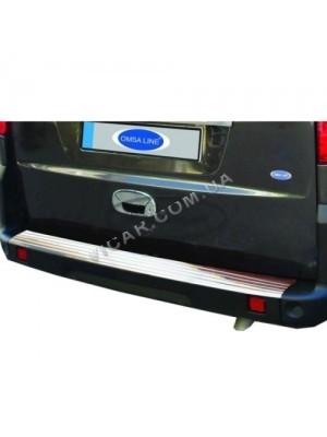 Накладка на задний бампер Fiat Doblo (2001...)