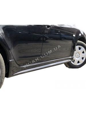 Накладки на внешние пороги Mitsubishi Lancer X (2007...)