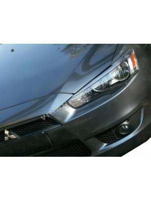 Ресницы на передние фары Mitsubishi Lancer X (2007...)