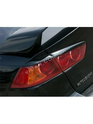 Ресницы на задние фонари Mitsubishi Lancer X (07+)