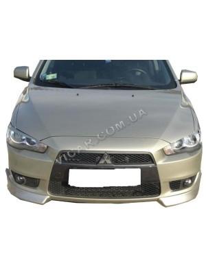 Клыки переднего бампера Mitsubishi Lancer X (2007...)