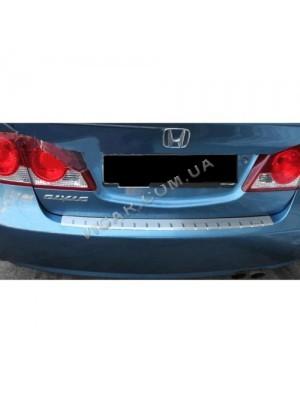 Накладка заднего бампера Honda Civic (2006+)