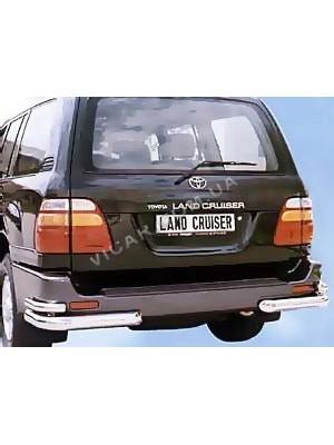 Защитные уголки заднего бампера Toyota Land Cruiser 100 (98 - 2006)