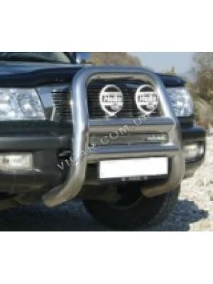 Кенгурятник - защита переднего бампера Toyota LC 100